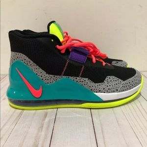 Nike Air Force Max Black/Hot Punch-Volt-New Green